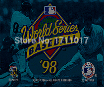 World Series Baseball 98 16 bit MD Game Card For Sega Mega Drive For Genesis