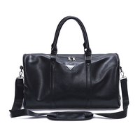 ARESLAND Large Capacity Unisex Luxury Women Travel Bags Waterproof PU Leather Handbag Vintage Men Travel Luggage