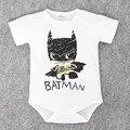2017 Новорожденного Мальчика Одежда Ropa Bebe Хлопок Короткий Рукав Супермен Baby Rompers Детские Костюмы Бэтмэн Рождения Ребенка Одежды Тела