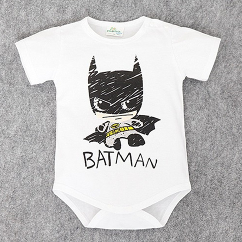 2017 Newborn Baby Boy Clothes Ropa Bebe Cotton Short Sleeve Superman Baby Rompers Baby Costume Batman Birthday Baby Body Clothes newborn baby rompers baby clothing 100% cotton infant jumpsuit ropa bebe long sleeve girl boys rompers costumes baby romper
