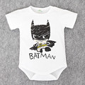 2017 Newborn Baby Boy Clothes Ropa Bebe Cotton Short Sleeve Superman Baby Rompers Baby Costume Batman Birthday Baby Body Clothes