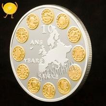 União europeia doze países moeda comemorativa ue ouro prata duas cores moedas colecionáveis euro histórico memorial distintivo