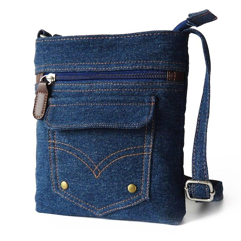 Online Shop women denim messenger bags woman mini small shoulder ...