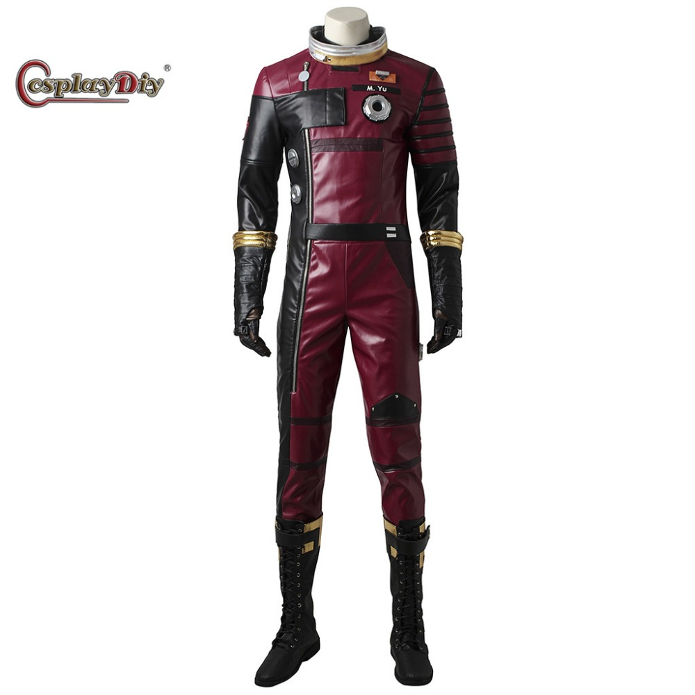Cosplaydiy 2017 Game Prey Role Morgan Cosplay Costume Adult Men Unisex Halloween Outfit Carnival Jumpsuit Costumes Custom Made
