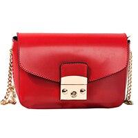 2017 New Women Flap Bag Fashion Small Red Bag Womens Fashion Lady Shoulder Bags Genuine Leather