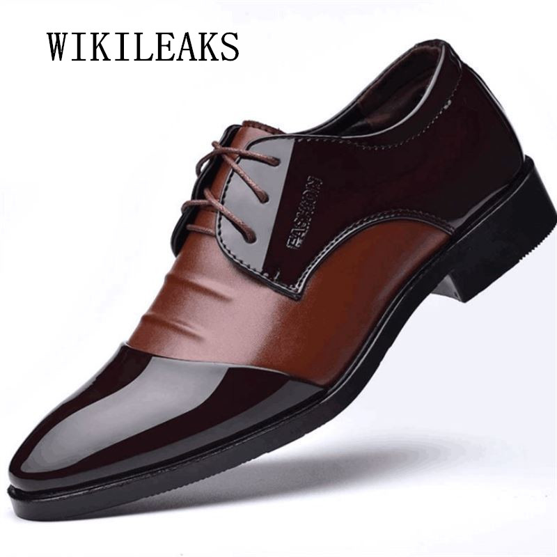 designer italian oxford shoes for men patent leather dress shoes mariage wedding shoes large sizes luxury brands derbies shoes fashion top brand italian designer mens wedding shoes men polish patent leather luxury dress shoes man flats for business 2016