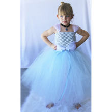 Cinderella Tutu dress Cinderella Costume Pretty Blue White Princess Handcrafted Girls Fashion Handmade Tutu dress fancy