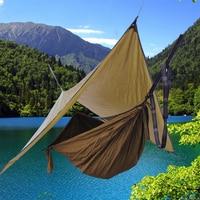 Camping Hammock With Rain Fly UV Resistant Waterproof Lightweight Sun Shade Sail Canopy for Outdoor Patio Garden Backyard Beach