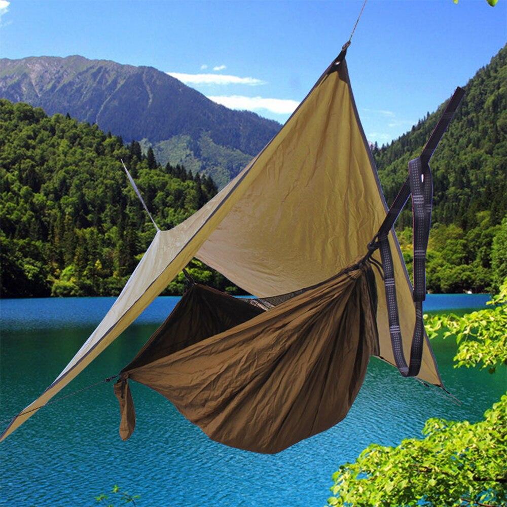 Hamac de Camping avec mouche de pluie résistant aux UV imperméable léger pare-soleil voile pour Patio extérieur jardin arrière-cour plage