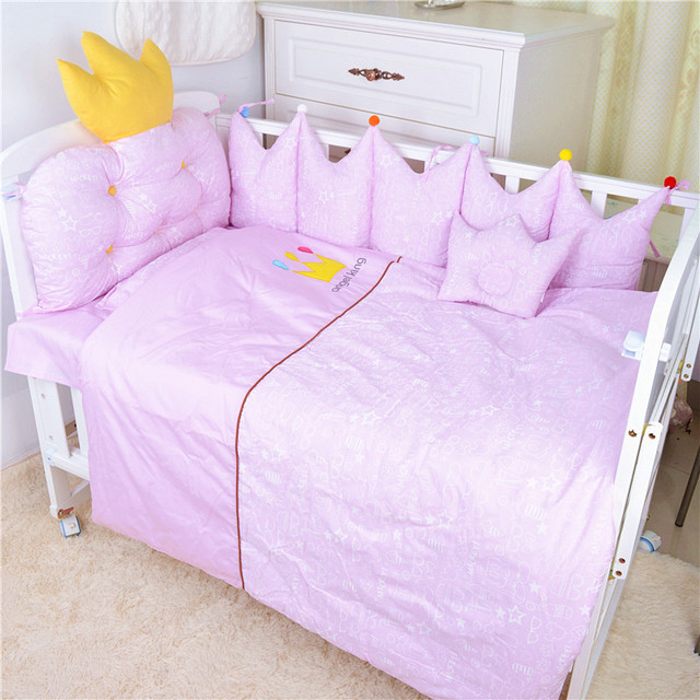 Nordic Style Baby Cotton Embroidered Bedding Set Bed Four Seasons  Baby Bedding Ten Sets Bed Bumper 1
