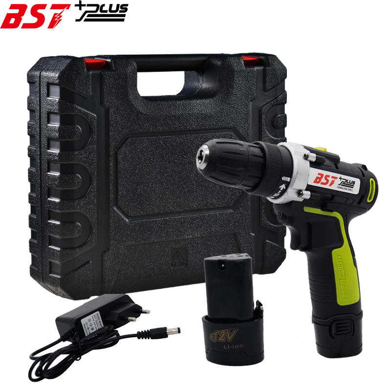 BST+PLUS(SIXTH STYLE)12V LITHIUM-ION BATTERY CORDLESS ELECTRIC HAND DRILL HOLE ELECTRIC SCREWDRIVER DRIVER WRENCH POWER TOOLS bst plus one style 16 8v lithium battery 2 speed cordless drill mini drill hand tools electric drill power tools screwdriver
