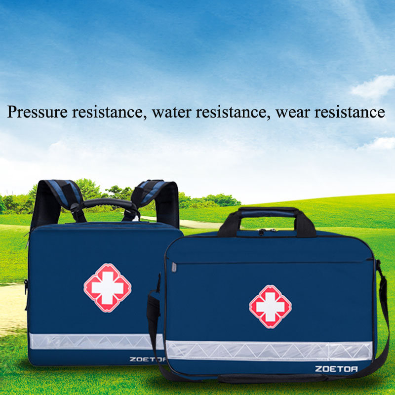 Outdoor First Aid Kit Outdoor Sports Navy Nylon Waterproof Cross Messenger Bag Family Travel Emergency Medical Bag DJJB040