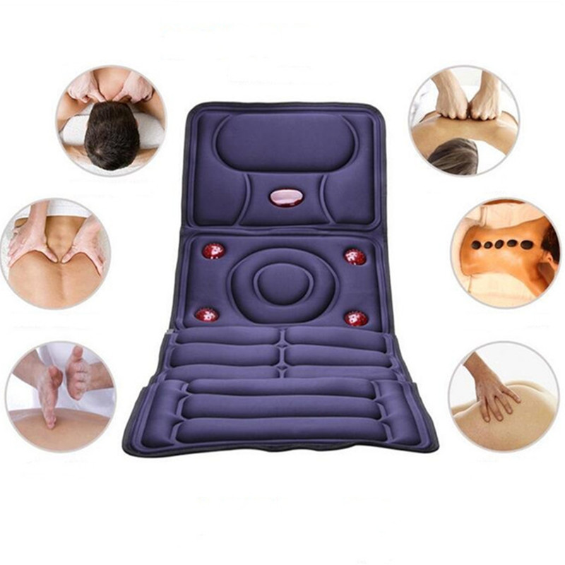 2017 Collapsible Full-body Electric Massage Mattress Health Care Multifunction Chair Cushion Blanket Mat equipment Therapy Bed