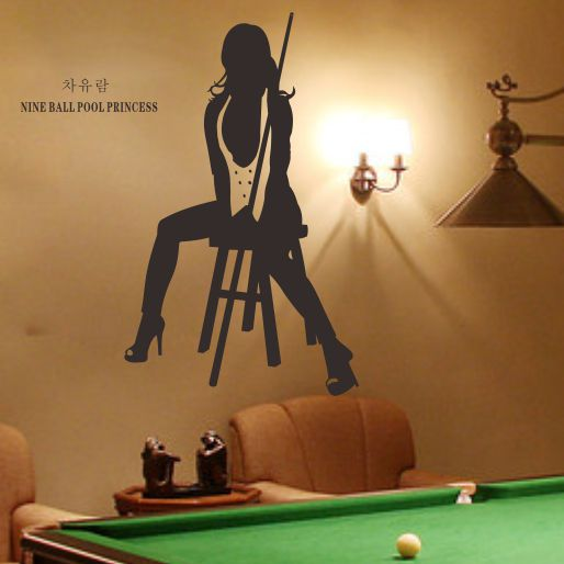 korean beauty car yoo blue billiard billiard room personalized wall
