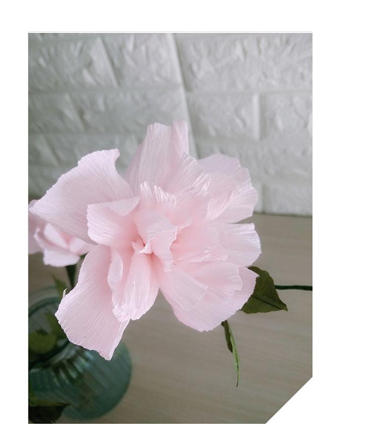 Diy Crafts Crepe Paper Hibiscus Flower 7 Home Decoration Materials