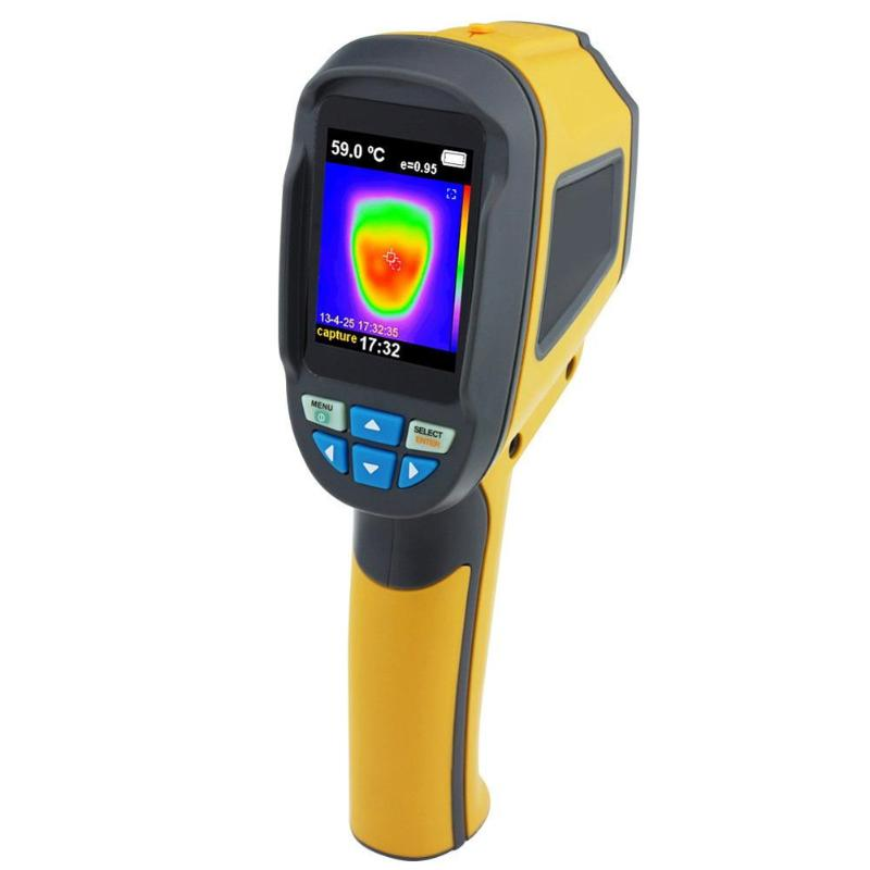 HT-02D Digital IR Infrared Thermal Imaging Camera Thermometer Non-contact Handheld LCD Display Temperature Tester + Storage Box 2 2 lcd digital thermometer handheld temperature tester 1 x 9v 6f22