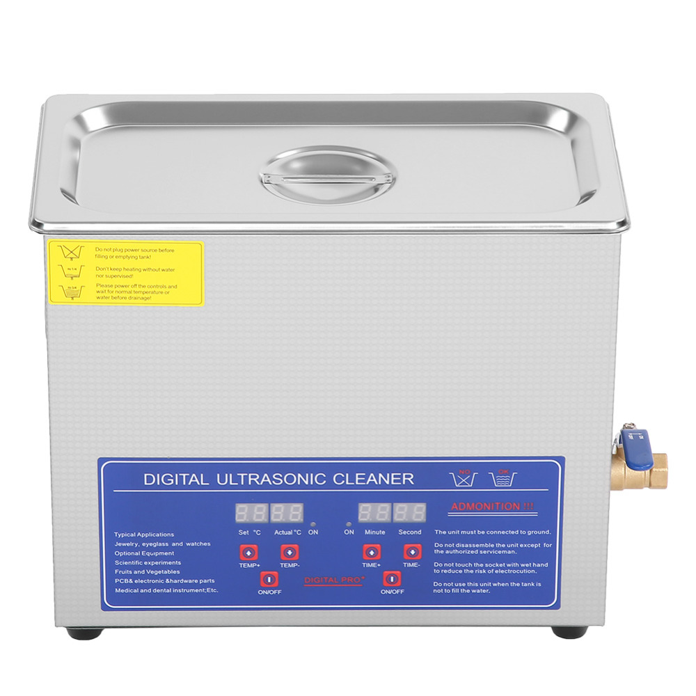 Stainless Steel 6L Liter Industry Heated Ultrasonic Cleaner Heater with Timer ultrasonidos limpiador nettoyeur ultrason