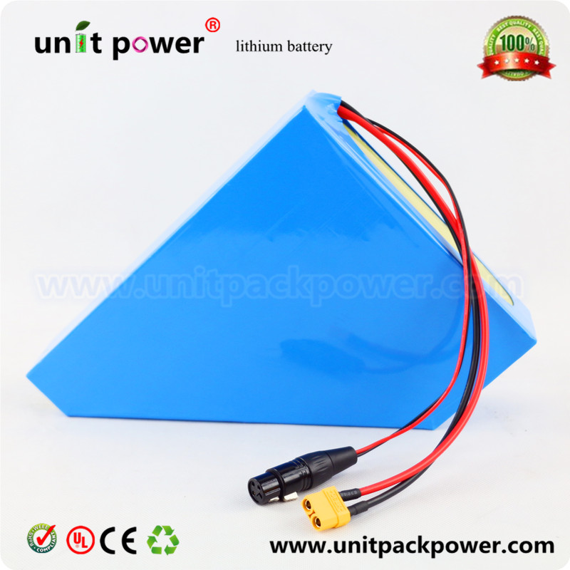 Powerful  48V 20AH lithium ion battery use NCR18650 cells 48V 1000W triangle battery pack for Sondors Ebike 48v 20ah 1000w lithium ion battery 48v 8fun bbshd battery 48v battery 54 6v battery pack free customs duty