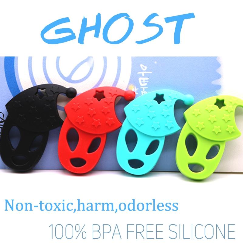 Szellem alakú szilikon teether BPA szilikon állati medál DIY - Babaápolási