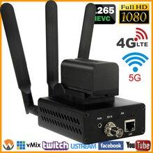 URay 3G LTE FDD LTE 4G H.265 H.264 HD-SDI 3G-SDI IP Stream de Vídeo Codificador de Áudio Codificador SDI Para Fluxo de IP de Streaming Ao Vivo codificador