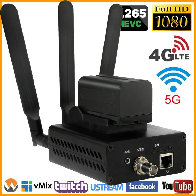 URay 3g 4g H.265 H.264 LTE FDD LTE HD-SDI 3G-SDI Flux IP Vidéo Audio Codeur SDI À IP encodeur de flux En Direct Streaming Codeur
