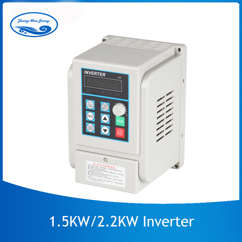 CNC VFD Universal 1 5kw 2 2kw 220V Inverter Single Phase Input Frequency Converter Invertor for