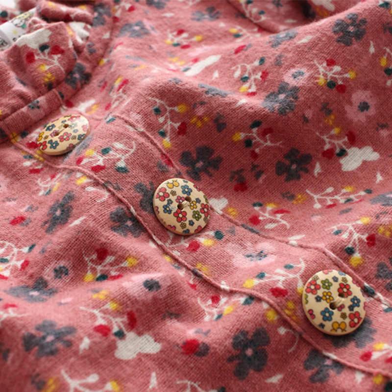2020ฤดูใบไม้ผลิสาวฤดูใบไม้ร่วงชุดผ้าฝ้ายชุดเด็กพิมพ์ดอกไม้ชุดเด็กทารกแขนยาวชุด6 8