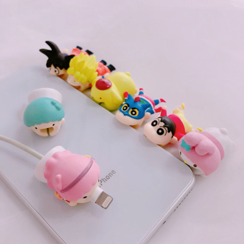 1 Pc Cable Bite Carton Animal Cable Bite Protectors Gags Practical Jokes For IPhone Winder Phone Accessory Organizer Prank Toy