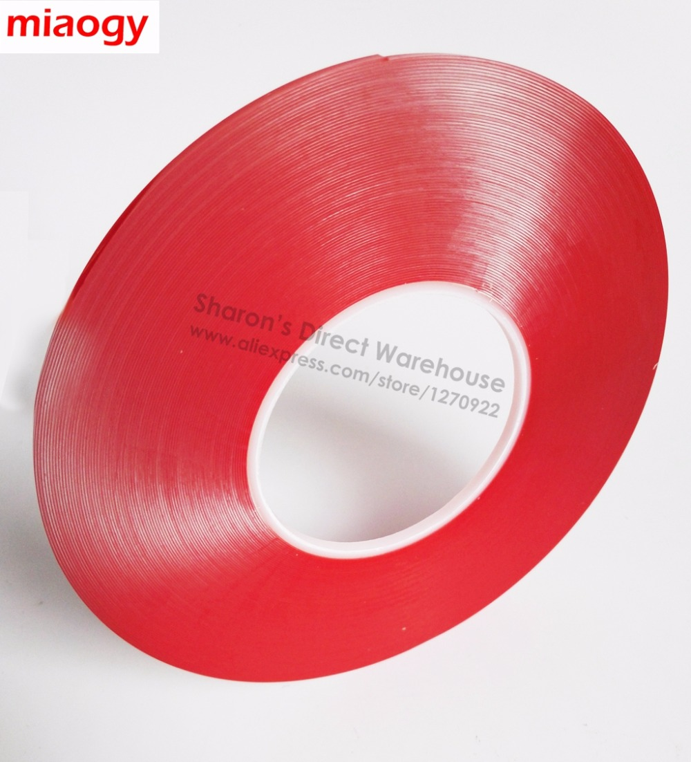 (0.5mm Thick, ) 5mm wide, High Bond Clear Acrylic Gel Adhesive Double Sided Tape, Waterproof, Hi-temp Resist for Car Phone Glass 1 0mm thick 4mm 100mm width choose clear double sided adhesive acrylic foam tape for glass panel edge trim seal 3meter roll