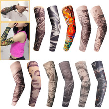 1Pc Skin Proteive Nylon Stretchy Fake Temporary Tattoo Sleeves Arm Stockings Design Body Cool Men Unisex Fashion Arm Warmer Ho