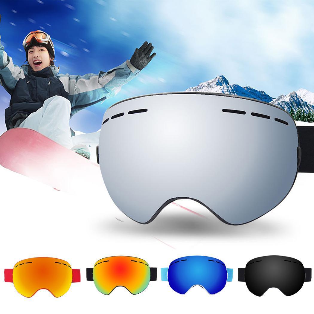 Nouvelles lunettes de Ski hommes femmes Double lentille Anti-buée lunettes de Ski lunettes de neige adulte Ski Snowboard lunettes 2018