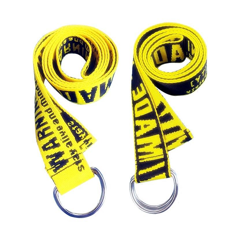 Harajuku Men Women Unisex BF Embroidery Canvas Letter Print Long Wide Waist Strap Belt Buckle Metal Tape Jeans Strap Belt in Men 39 s Belts from Apparel Accessories