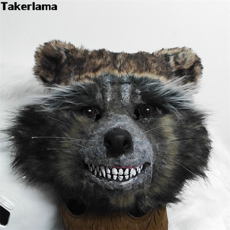 Takerlama 2017 Guardians of The Galaxy Rocket Raccoon Full Mask Cosplay Prop Toy