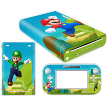 цена на for w ii U PVC Decal Skin Sticker Dust Protector Case Special Design Game Accessories for w ii u skins Mario skins
