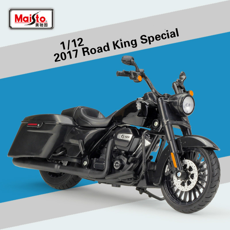 Maisto for Harley Road King Special 2017 Motorcycle Model Offroad Cross country Scooter Road King Motorbike Model Toys 1:12