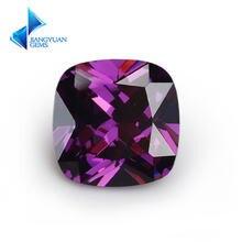 5x5 ~ 12x12 мм фиолетовый цвет огранка подушки свободная форма