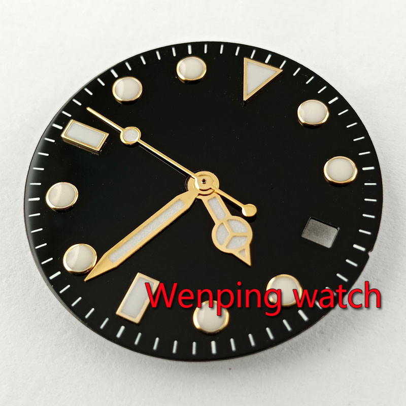 28.5mm Sterile Watch Dial + Watch Hands Fit DG2813,Miyota 82Series Movement