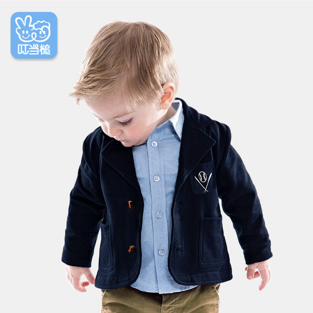 4e8389247ea Autumn Baby boy Suit jacket Baby Clothes Boys suits for wedding Kids  British Wind Birthday Dress