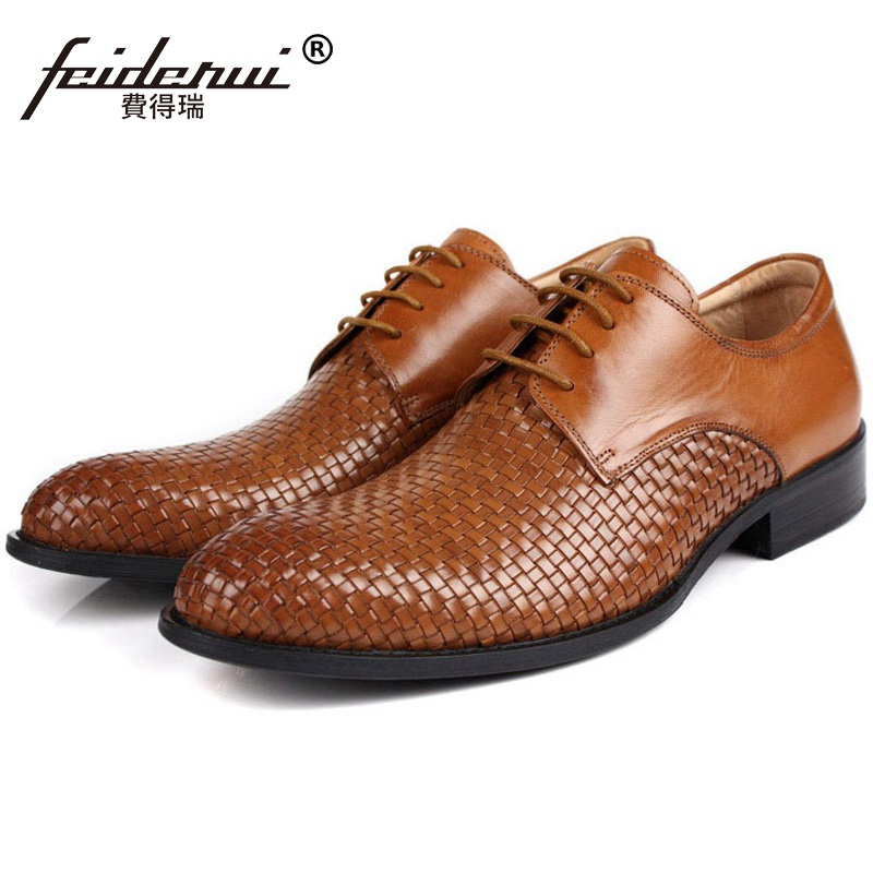 Top Quality Man Handmade Dress Shoes Male Genuine Leather Wedding Office Oxfords Luxury Round Toe Men's Bridal Footwear FK92 men luxury crocodile style genuine leather shoes casual business office wedding dress point toe handmade brogue footwear oxfords page 2 page 5 page 5 page 3