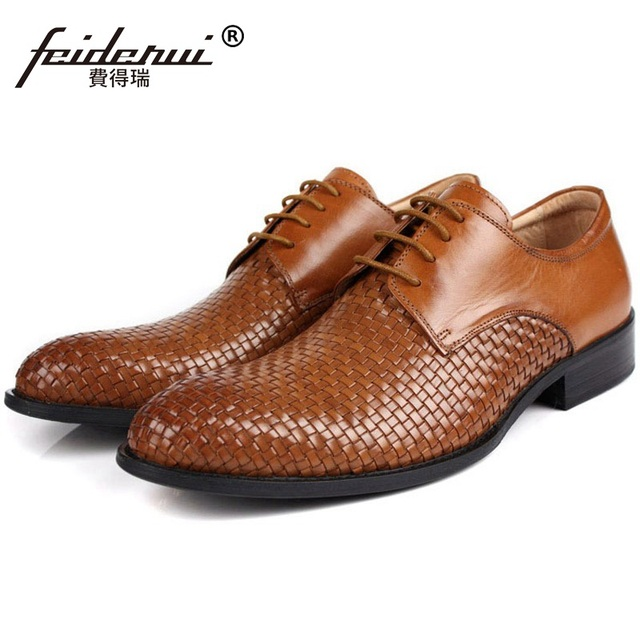 c8ed45b6a25 Top Quality Man Handmade Dress Shoes Male Genuine Leather Wedding Office  Oxfords Luxury Round Toe Men s Bridal Footwear FK92