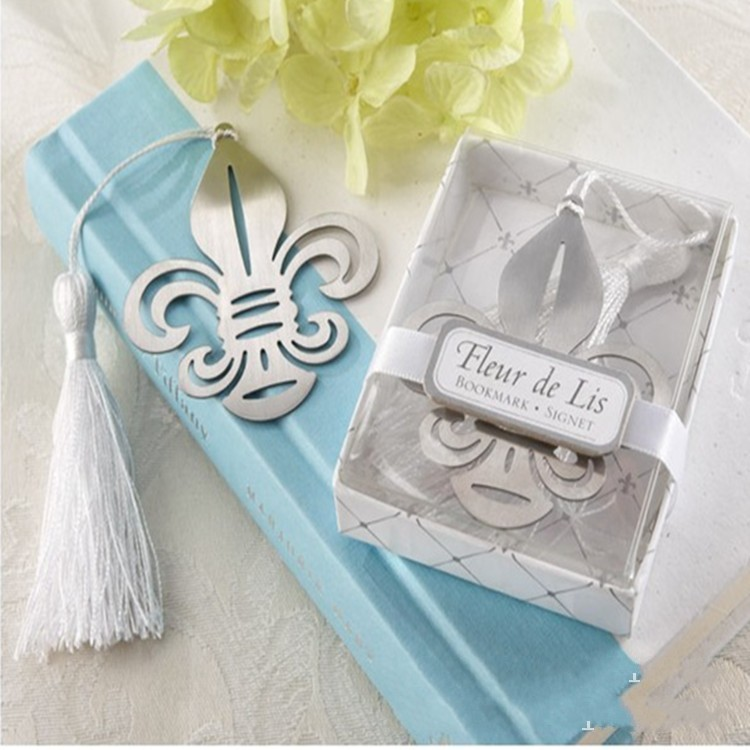 Free shipping Fleur de Lis Metal Bookmark wedding bridal shower ...