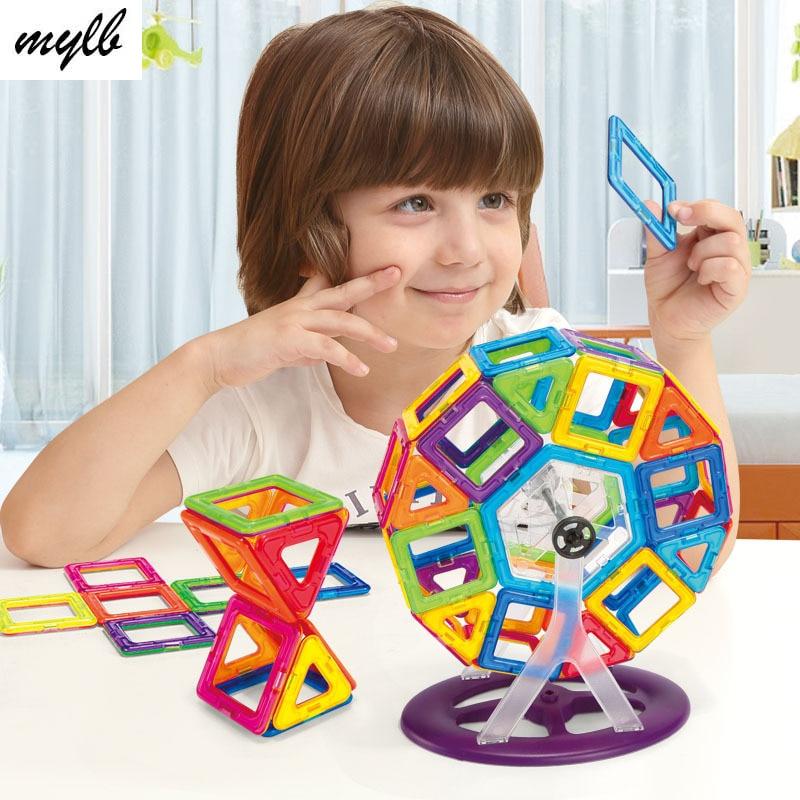 mylb 60PCS 브랜드 자기 빌딩 블록 완구 미니 DIY 교육 - 블록 장난감