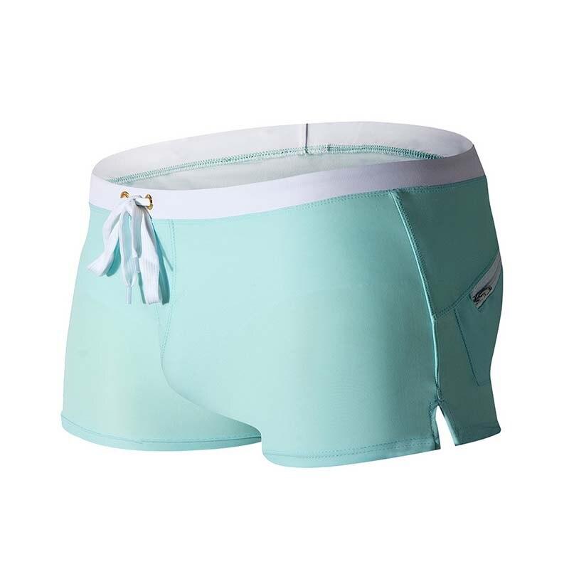 Men Swimwear Briefs Swimsuits Boxer Beach-Shorts Breathable Summer