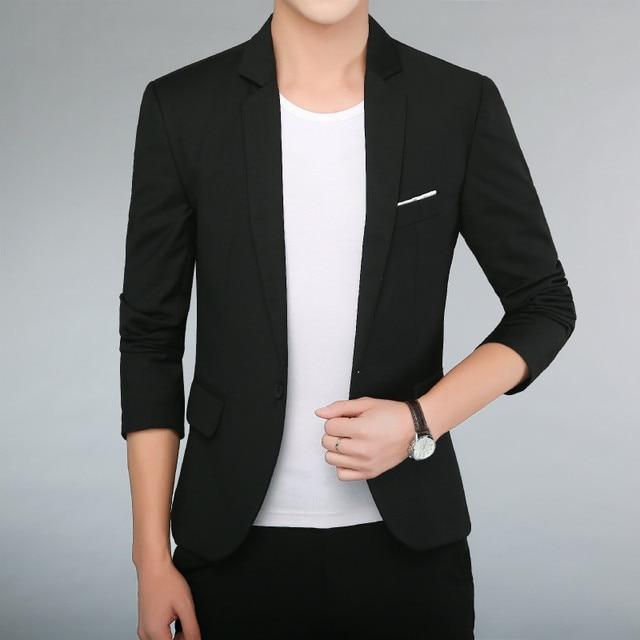 2019 nuevos hombres joven guapo DE LA SOCIEDAD traje pequeño traje de  chaqueta Blazer corte Slim 33e2047c4d3