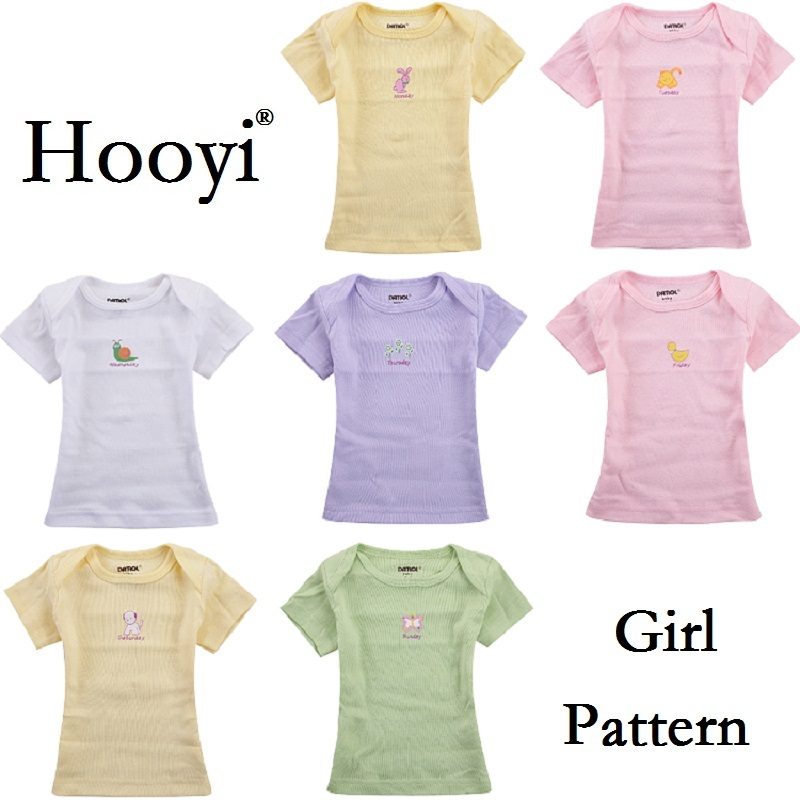 135bb0007f72 Summer Baby T Shirts Short Sleeve Monday To Sunday Week Day Newborn ...