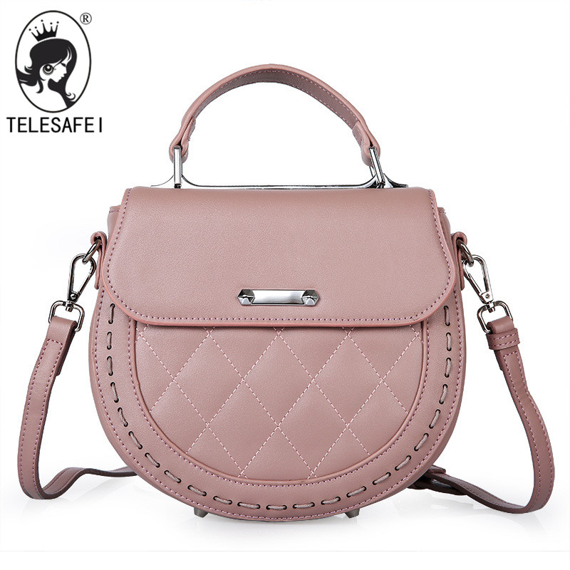 Фотография Telesafei Wholesale new Genuine Leather handbag oumeifeng lozenge lady bag cover Shoulder Messenger Bag pig 0854