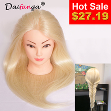 2017 New Arrival Hair Mannequin 80 Human Hair Mannequin Head For School Practise Hairstyling Professional Training