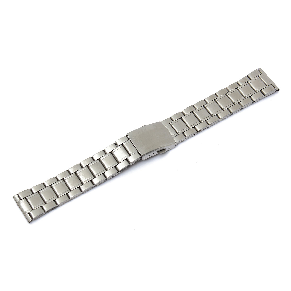 18mm 20mm 22mm Stainless Steel Strap Silver Wrist Watch Bracelet With Folding Clasp Hot Men Women Metal Watchband stylish 8 led blue light digit stainless steel bracelet wrist watch black 1 cr2016