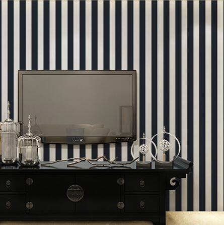 beibehang wall paper High Quality Black and white striped wallpaper for walls modern tapete papel de parede roll for  bedding