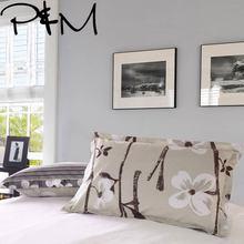 Papa&Mima Flowers and branches print Bedding Pillowcase Fashion printing Pillow Cover 2Pcs 48x74cm kids 100% cotton